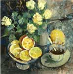 Morning still-life (coffee and lemons)