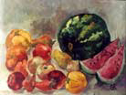 Still-life with a water-melon