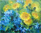 Dandelions and forget-me-nots